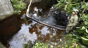 During the month of July, the FARC forced tanker trucks to empty their fuel onto the roadway.