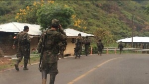 FARC, roaming the roads freely like this, contributes to flight of foreign investment.